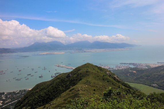 Lantau in the distance